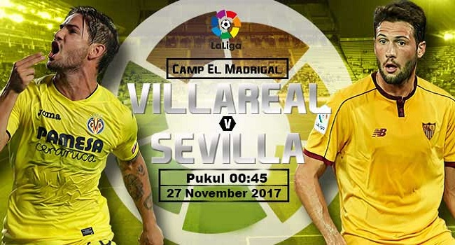 live streaming villarreal vs sevilla 27 november 2017
