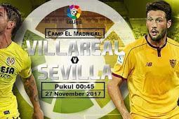 Live Streaming Villarreal vs Sevilla 27 November 2017
