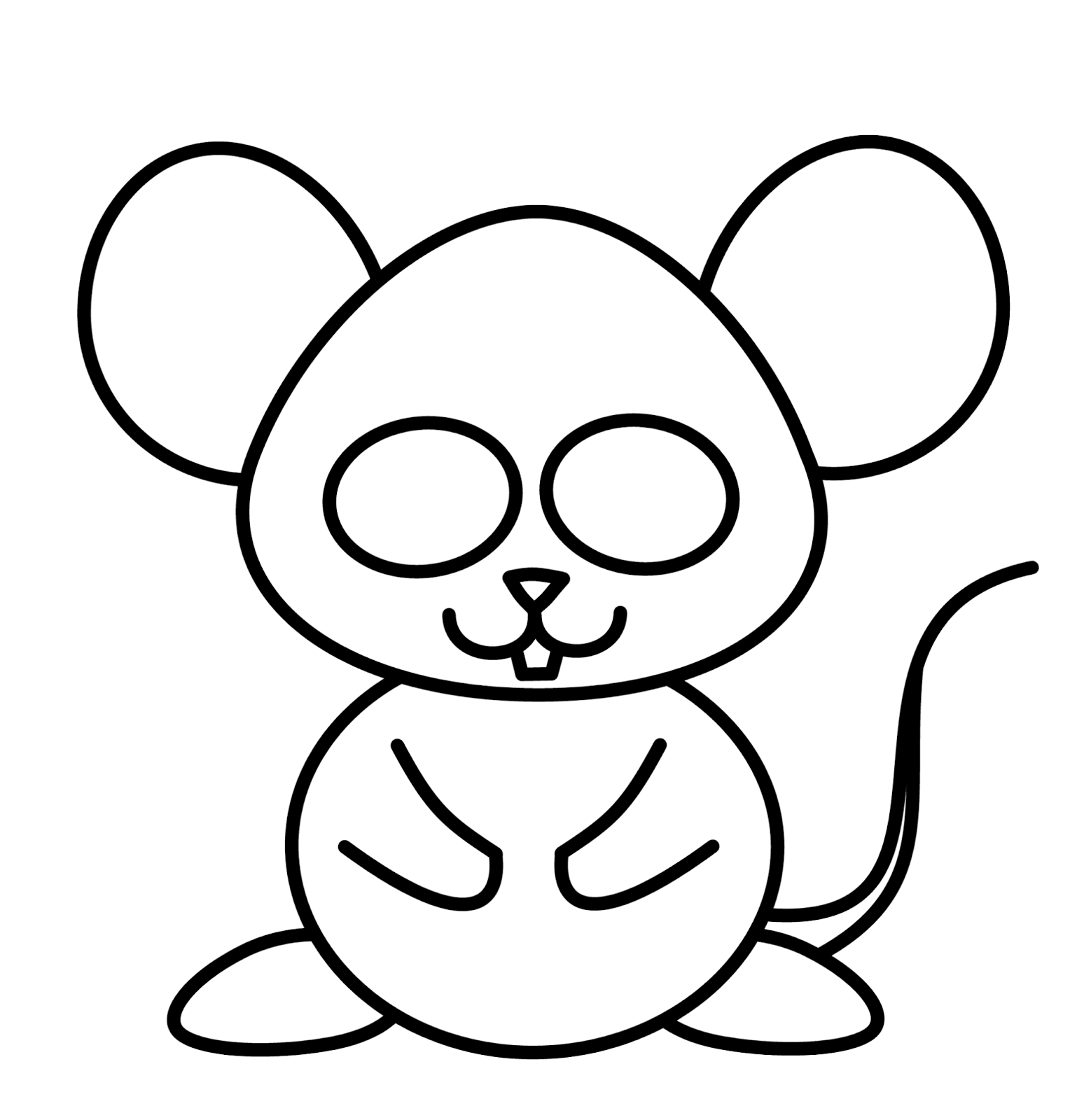How to draw cartoons mouse for How do you draw a mouse