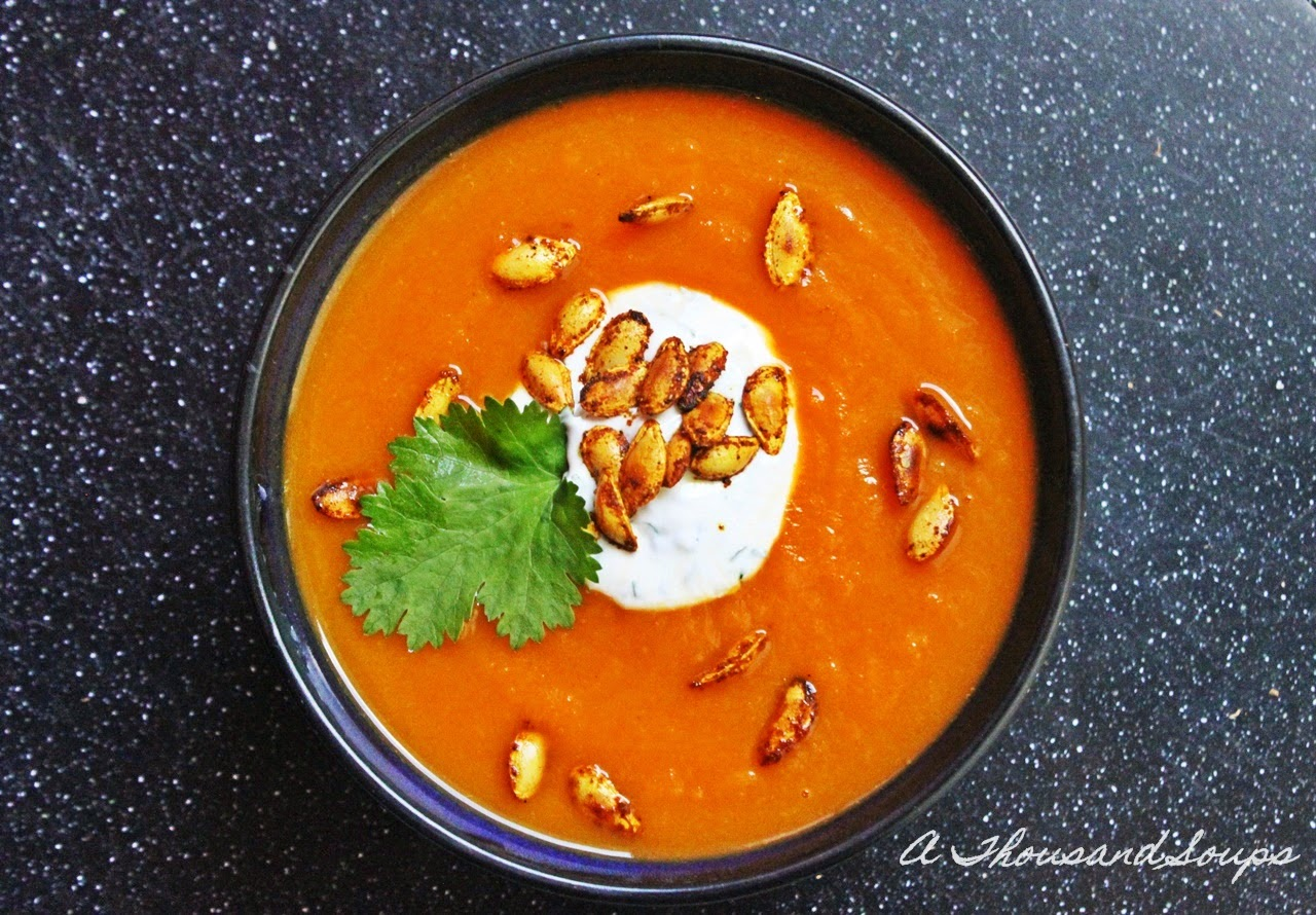 Curried Carrot and Ginger Soup with Butternut Squash