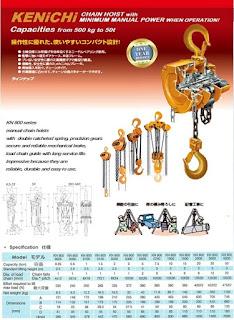 Harga Takel Chain Block Hoist Kenichi Murah
