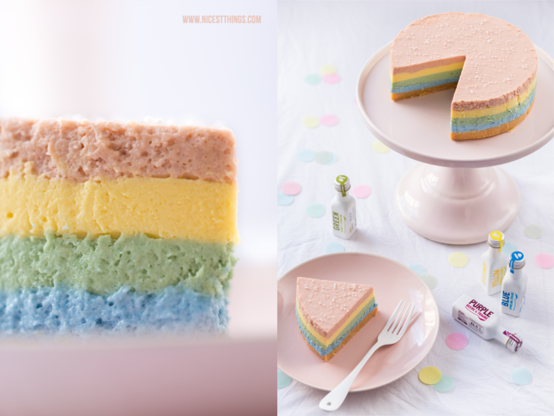 Regenbogen Cheesecake Rezept Rainbow Cheesecake Regenbogen Kuchen