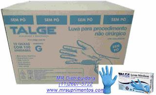 51bc771a482a7 Luva Nitrilica Caixa Master com 1000 Unidades Tamanho G- Talge- Descrição e  Características  Luva para procedimento não cirúrgico em nitrilo sem pó