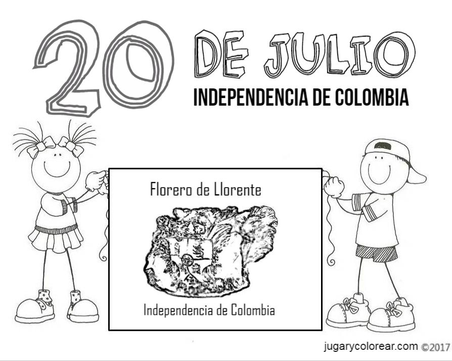 Dibujos Para Colorear Independencia De Colombia Jugar Y Colorear