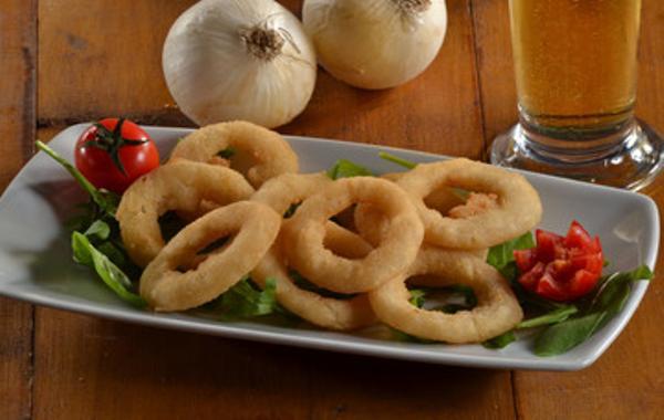Aros de cebolla fritos sin huevo