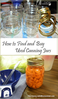 Where to look for used canning jars - from Oak Hill Homestead