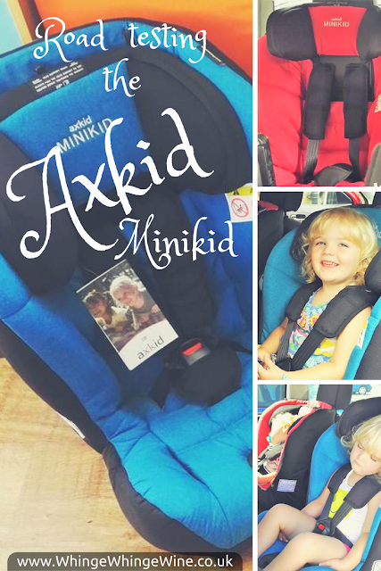 Review: Road testing the Axkid Minikid extended rear facing car seats with a 14 month old and an almost three year old.