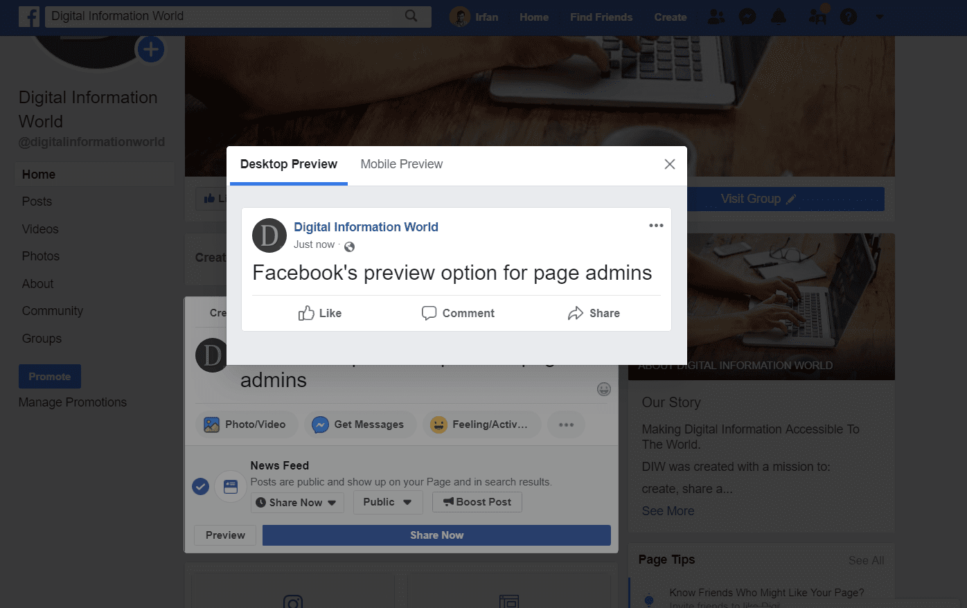 "Facebook Finally Rolls out a ""Preview"" Feature for Page Posts!"