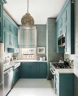 Design-of-Kitchen-Cabinet-Blue