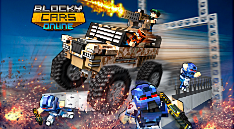 Blocky Cars Online Shooter FPS Money Hack Apk