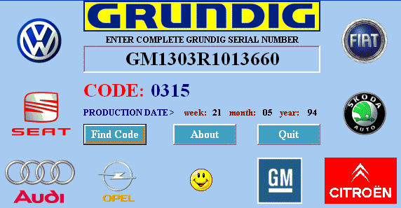 free audi radio codes from serial number