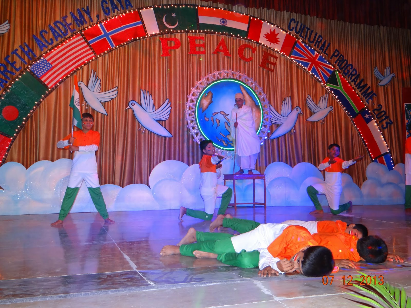 Nazareth academy gaya celebrates annual parents day for Annual day stage decoration images
