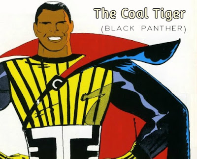 Kirby and Lee are not invincible, of course. Their first draft of the Black Panther had him without a mask and with a silly name called Coal Tiger.