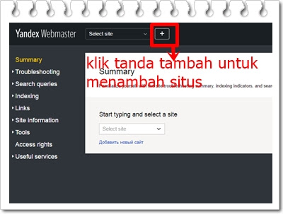 Cara daftar Blog ke Yandex dan juga Tahap Verifikasinya