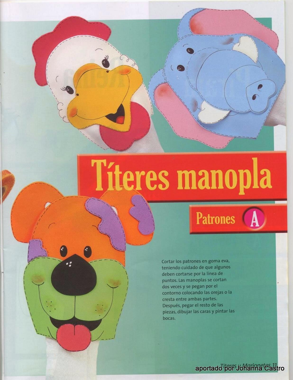 Como hacer titeres paso a paso revistas de manualidades - Como hacer figuras de fieltro paso a paso ...