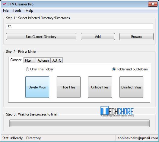 HFV Shortcut Virus Remover
