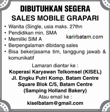 Lowongan Kerja Koperasi telkomsel (KISEL) Batam