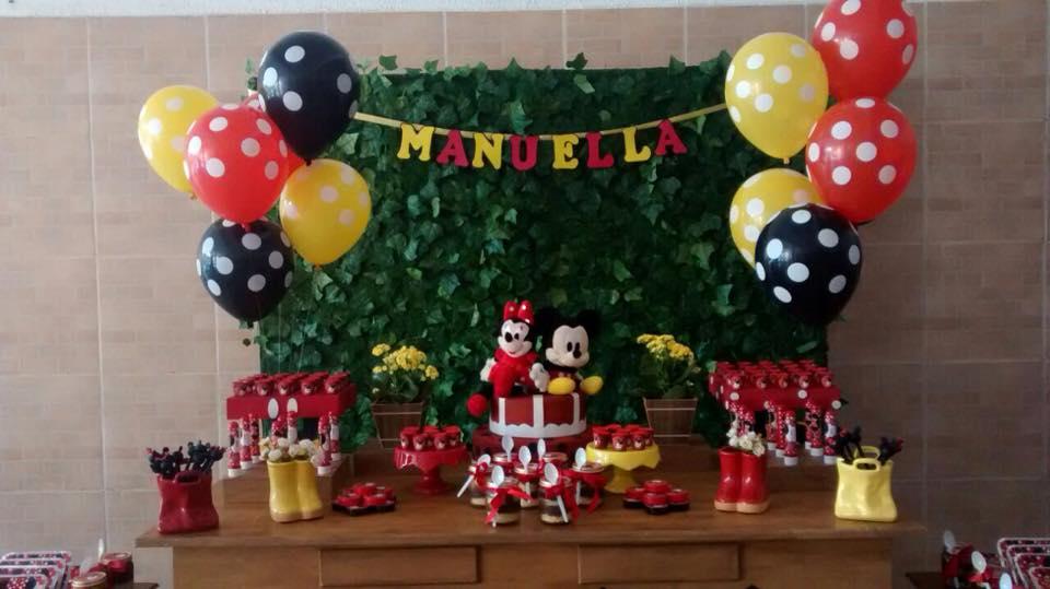 Decorações Infantil Campinas MINNIE E MICKEY Manuella 2 aninhos