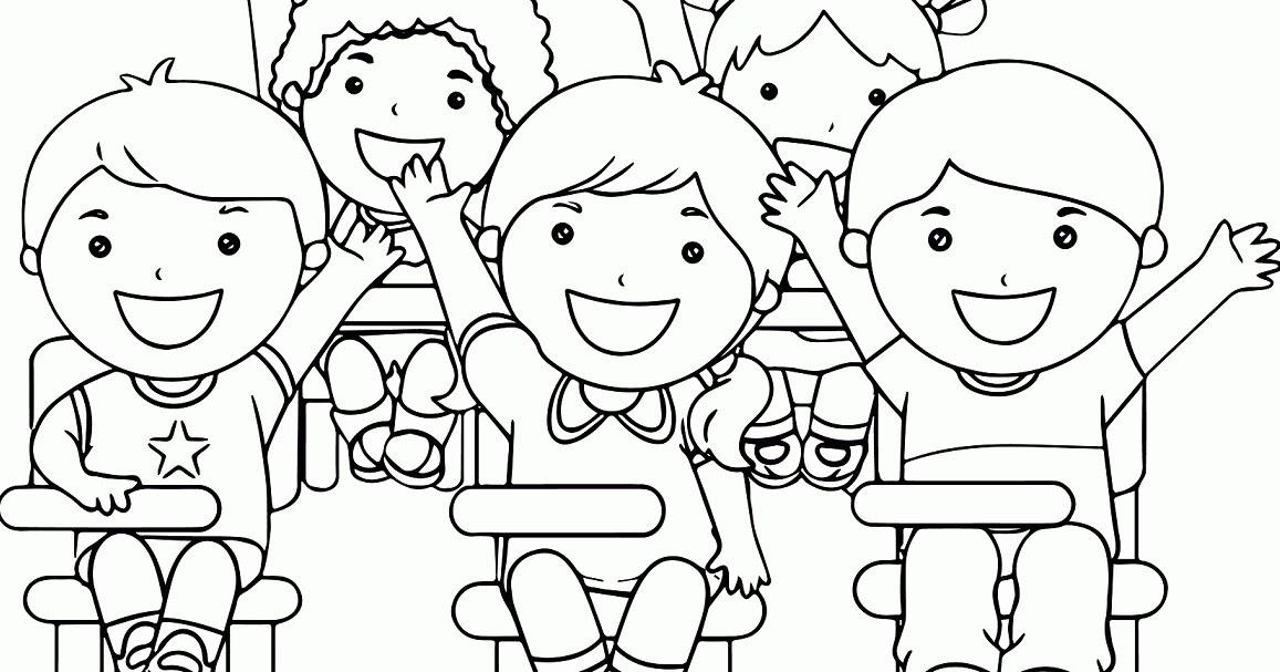 Kumpulan Gambar Sekolah Kartun Hitam Putih Galeri Kartun