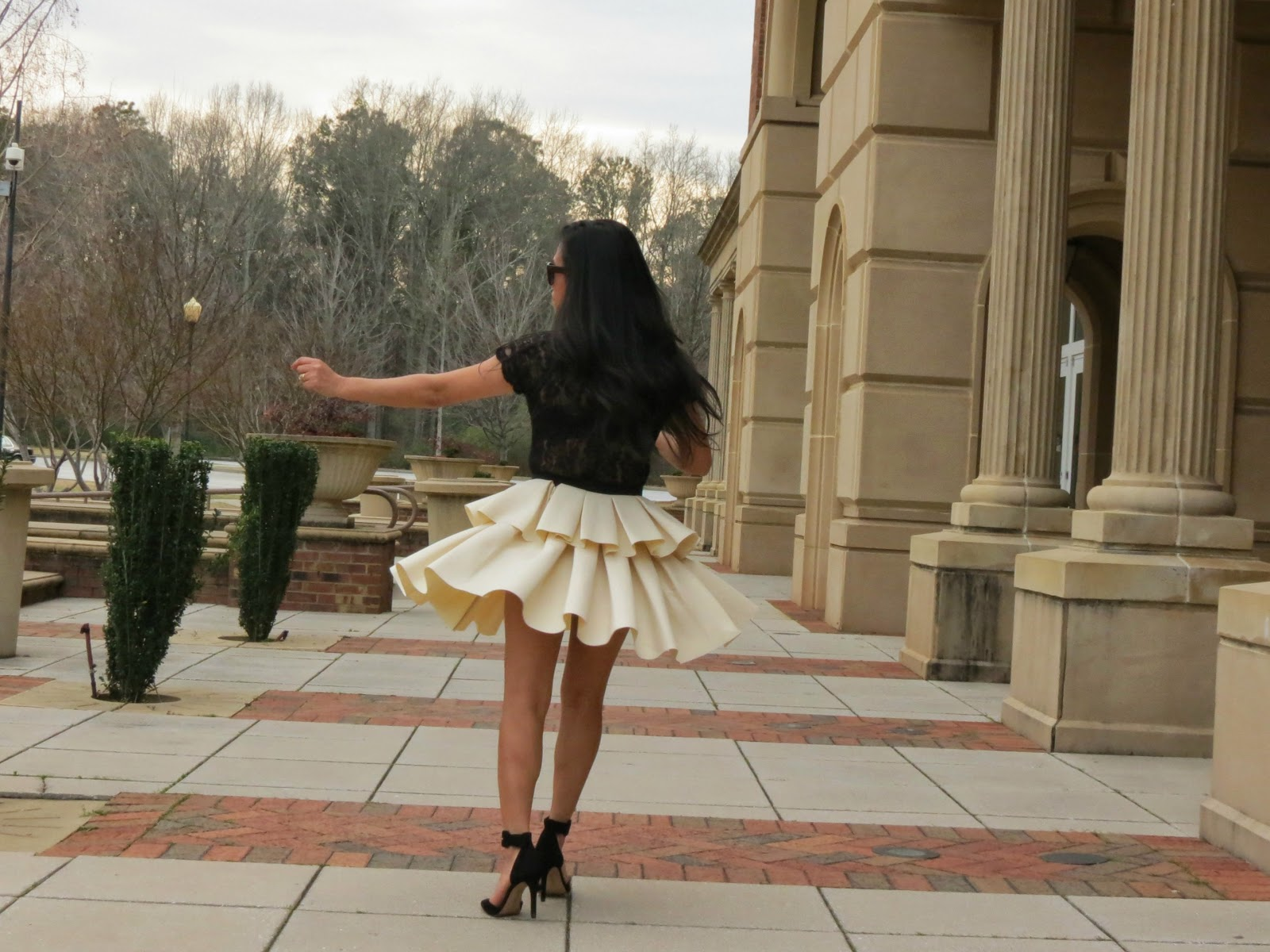 2d475d7d69 Peplum Top With Lace Lace Peplum Skirt: Fabulous Petite: Monday Twirl :  Peplum Skirt + Lace