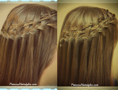 2 Waterfall braid variations, easy video tutorial