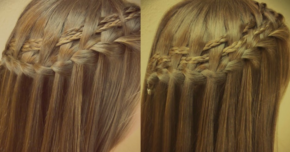 Double Woven Waterfall Braid Tutorial 2 Braided