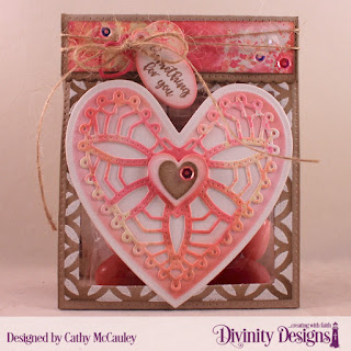 Stamp Set: Festive Favors Tag Sentiments   Mixed Media Stencils: Circles   Custom Dies: Ornate Hearts, Layering Hearts, Festive Favors, Double Stitched Squares, Squares  Paper Collection: Shabby Rose