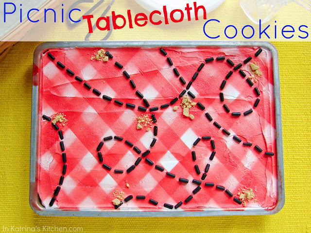 Picnic Table Cookies- perfect for holidays and summer picnics. Cute!!