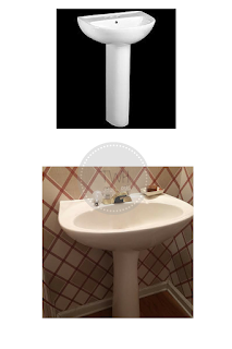 DIY: Downloadable eBook: How to wallpaper behind a pedestal sink?