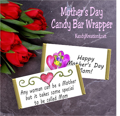 Mothers Day Candy Bar Wrapper by KandyKreations