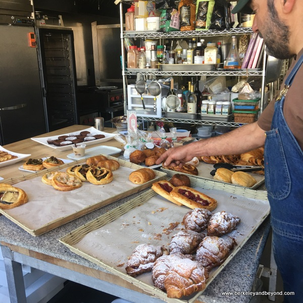 baked goods at La Noisette Sweets bakery in Berkeley California
