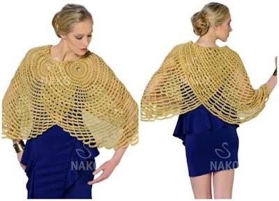 Capa doble mostaza gráfico crochet