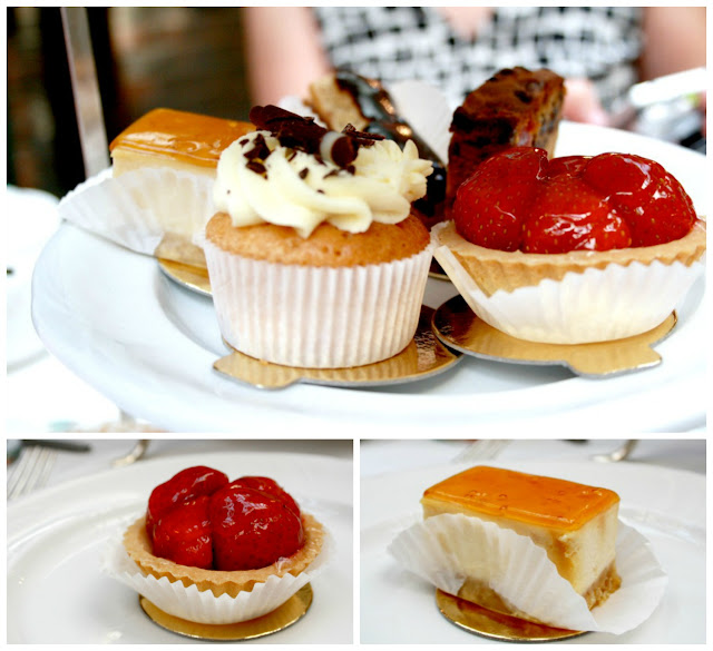 Afternoon tea cake selection from Butler's at The Chesterfield Mayfair