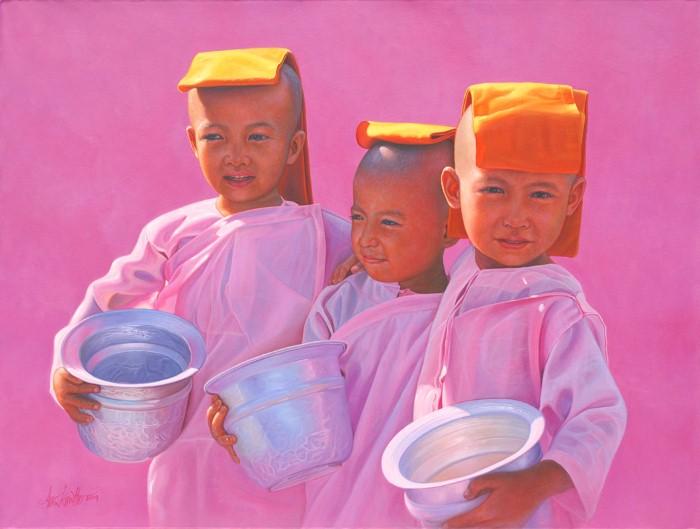 Лица монахов. Aung Kyaw Htet 19