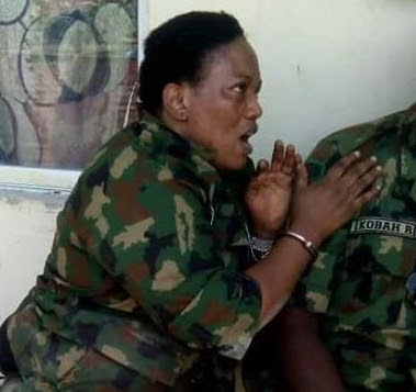 fake female soldier arrested abuja