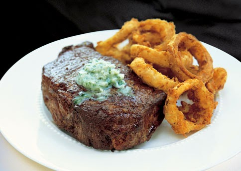 Pan-Fried Rib-Eye Steaks with Gorgonzola Butter Recipe