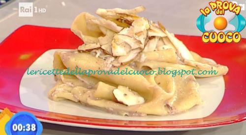 Mandilli con porcini e cacioricotta ricetta Ricchebono da Prova del Cuoco