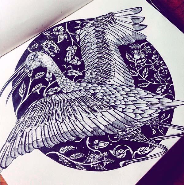 Ilustración, Coracora de Catalina Gómez aka Catalina Flora