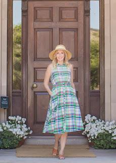 Green Multi Plaid Dress