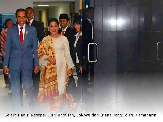Selain Hadiri Resepsi Putri Khofifah, Jokowi dan Iriana Jenguk Tri Rismaharini
