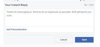 Cara balas pesan fanspage secara otomatis, cara membuat pesan balasan fanspage facebook