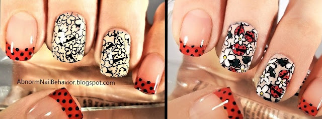 reverse nail stamping decal comparison