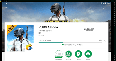 Download game PUBG Mobile di Google Play Store lewat Emulator