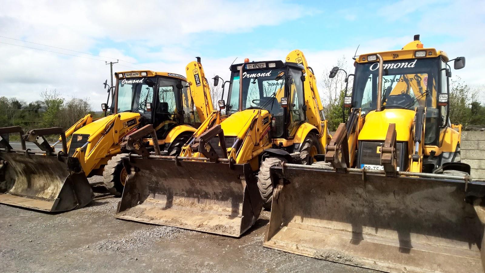 excavator hire Black town