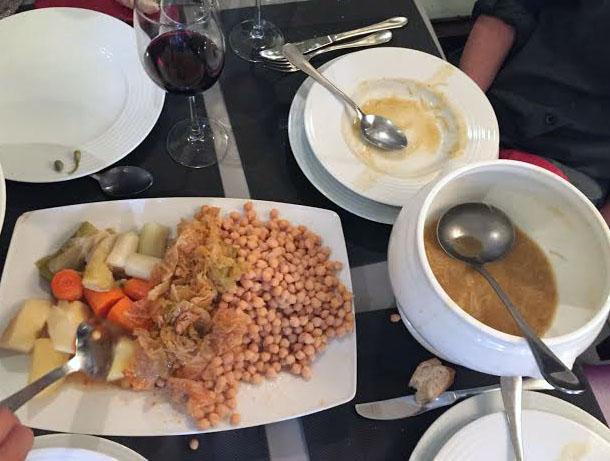 Casa Pello, cocido madrileño sopa y verduras - Tusolovive Madrid