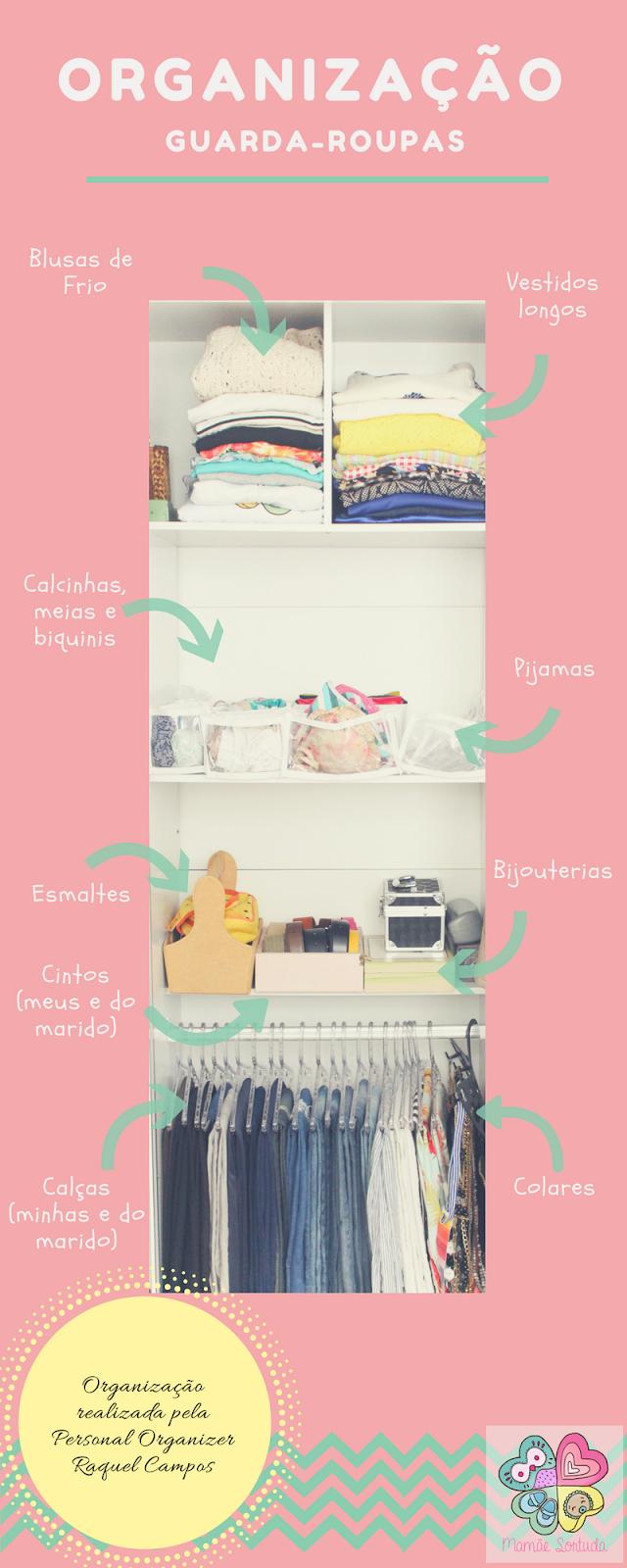 personal organizer, Raquel Campos personal organizer, mamãe sortuda, organização, guarda-roupas, belo horizonte, guarda-roupas casal, guarda-roupas pequeno, dicas, organização casa, Mamãe Criativa,