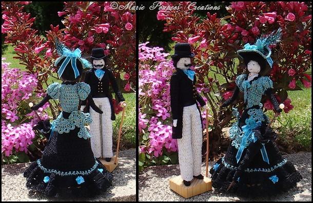 Couple de poupées 1900