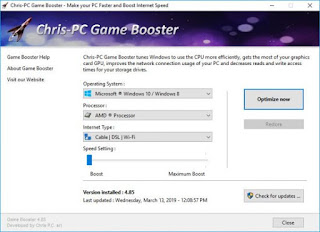 Chris-PC Game Booster 4.85 Full Version