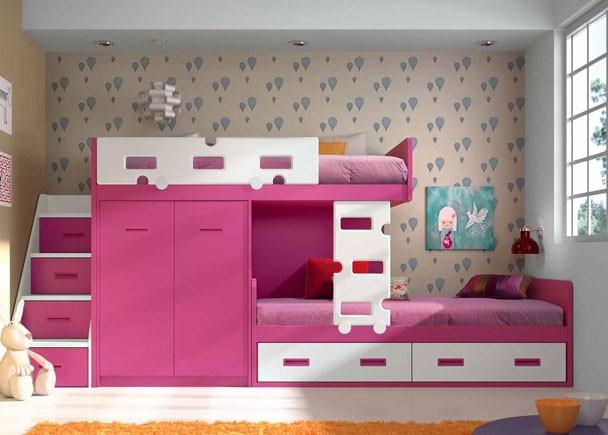 Dormitorios juveniles economicos for Camas tren baratas