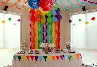 C mo decorar cumplea os infantiles con papel crepe y - Como hacer decoracion de cumpleanos ...